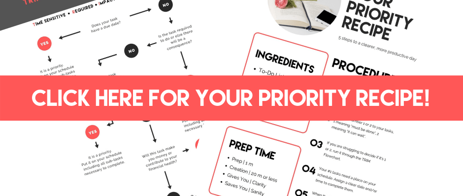 Your Priority Receipe - Business Savvy Mama